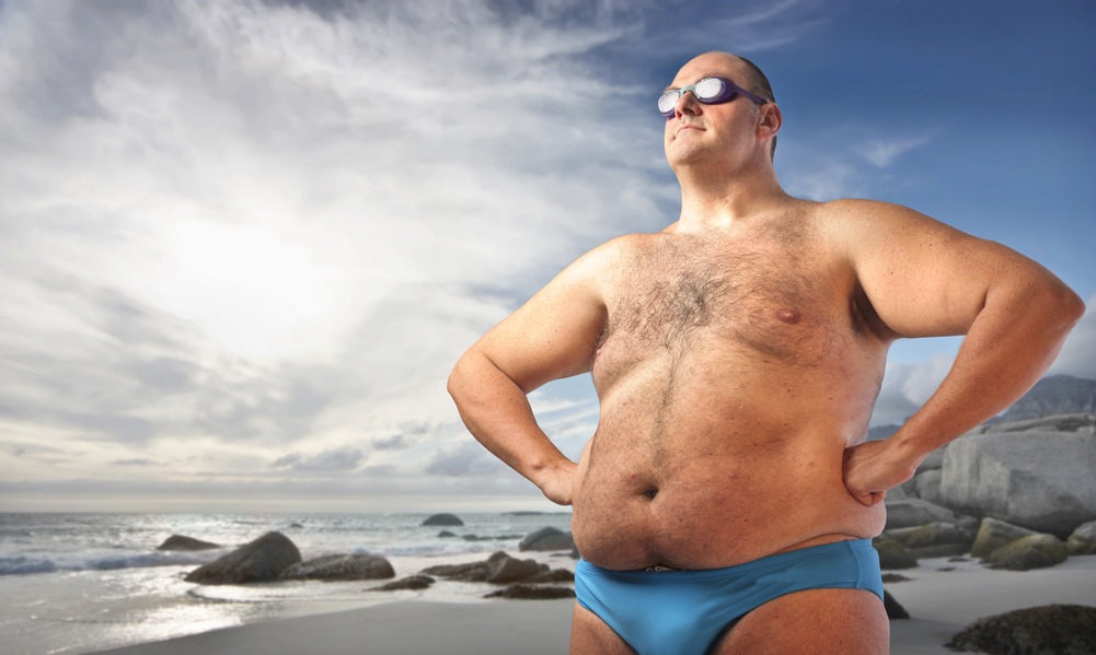 фото толстяков на пляжах
